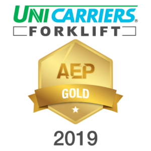 Unicarriers Forklift AEP Gold Badge 2019